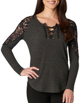 Democracy Lace-Accented Knit Top