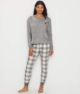 ED Ellen Degeneres Sueded Fleece Dog Pajama Set