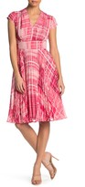 Maggy London Plaid Pleated Dress (Petite)