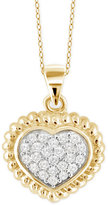Macy's Diamond Heart Pendant Necklace (1/4 ct. t.w.) in 14k Gold-Plated Sterling Silver