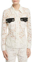 Calvin Klein Western-Style Lace Blouse