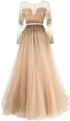 Saiid Kobeisy Bead Applique Dress