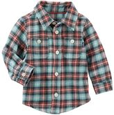 Osh Kosh Baby Boy Flannel Plaid Shirt