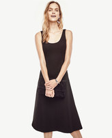 Ann Taylor Petite Doubleface Flare Dress