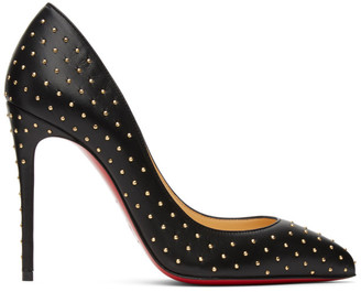 Christian Louboutin Black Studded Pigalles Follies 100 Heels