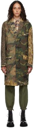R13 Multicolor Camo Shredded Coat