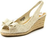 Karen Scott Womens ALLORAA Canvas Peep Toe Casual Espadrille