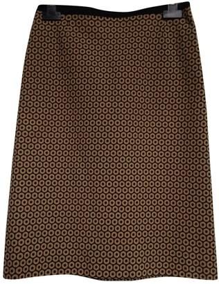 Paule Ka Camel Cotton - elasthane Skirt for Women