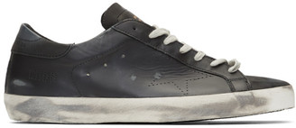 Golden Goose Black Superstar Sneakers