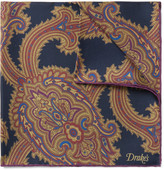 Drake's - Paisley-print Silk Pocket Square