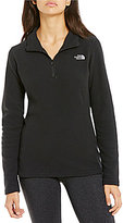 The North Face Glacier Mock Neck Long Sleeve Solid 1/4 Zip Pullover