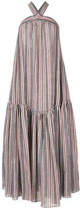Three Graces striped maxi beach dress