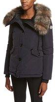 Moncler Malus Fur-Trim Puffer Jacket