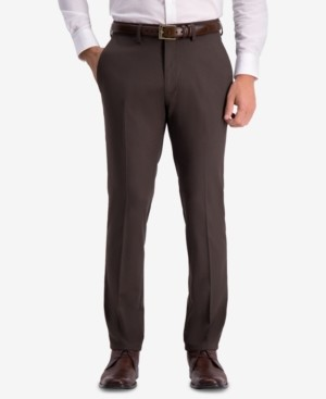 Kenneth Cole Reaction Men's Slim-Fit Shadow Check Dress Pants