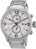 Tommy Hilfiger Brady Multi-Function White Dial Stainless Steel Mens Watch 1790891