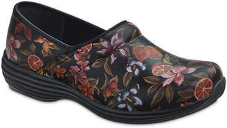 Sanita Women's Clogs 002-Black - Black & Red Floral Suri Leather Clog - Women