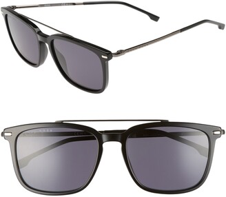 BOSS 55mm Polarized Sunglasses
