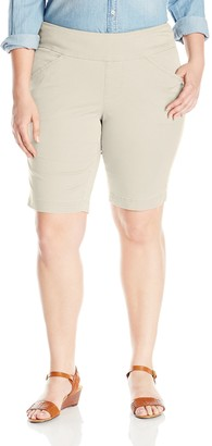 Jag Jeans Women's Plus Size Wm Ainsley Pull-On Bermuda Short in Bay Twill