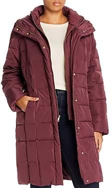 Cole Haan Plus Mid-Length Puffer Coat