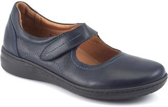 David Tate Leather Mary Jane Strap Flats - Rosa