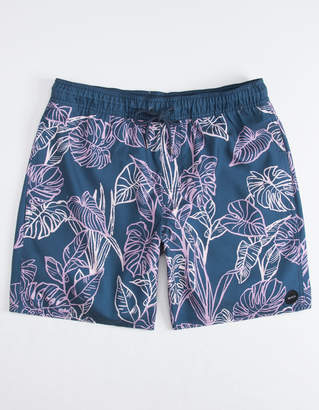 RVCA Palm Leaves Mens Volley Shorts