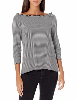 Emporio Armani Women's Long Sleeve Off The Shoulder Top