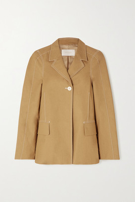 Low Classic Topstitched Cotton Jacket - Neutral