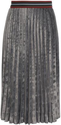 M Missoni Pleated Velvet Midi Skirt