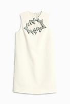 Christopher Kane Mini Dress With Crack Motif