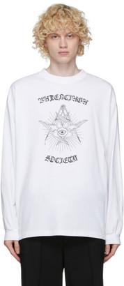 Balenciaga White Gothic Long Sleeve T-Shirt