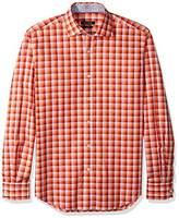 Bugatchi Men's Dunmore Long Sleeve Digital Check Button Down Shirt