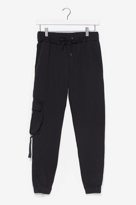 Nasty Gal Womens Cargo Get It High-Waisted Joggers - Black - S, Black