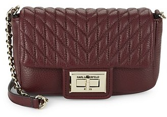 Karl Lagerfeld Paris Agyness Faux Leather Crossbody bag