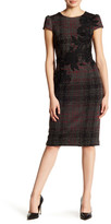 Betsey Johnson Plaid Embroidered Knit Sheath Dress