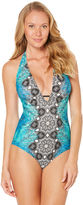 Laundry by Design Geometric One Piece Swimsuit