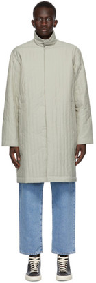 Sunnei Grey High Neck Coat