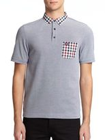 Fred Perry Gingham-Trimmed Pique Polo Shirt