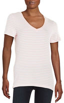 Lord & Taylor Striped Stretch-Cotton Tee