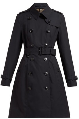 Burberry Chelsea Double-breasted Cotton Trench Coat - Navy