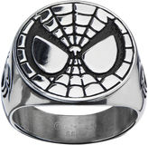 Spiderman FINE JEWELRY Marvel Mens Stainless Steel Ring