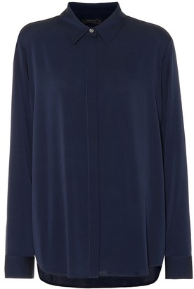 The Row Petah stretch silk shirt