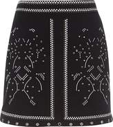 River Island Womens Black studded mini skirt