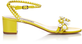 Tabitha Simmons Folie daisy-embellished leather sandals