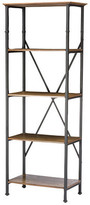 Baxton Studio Lancashire Brown Wood and Metal Bookcase
