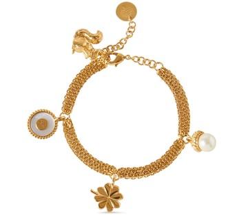 Mulberry Secret Garden Charm Bracelet Multicolour Glass and Brass