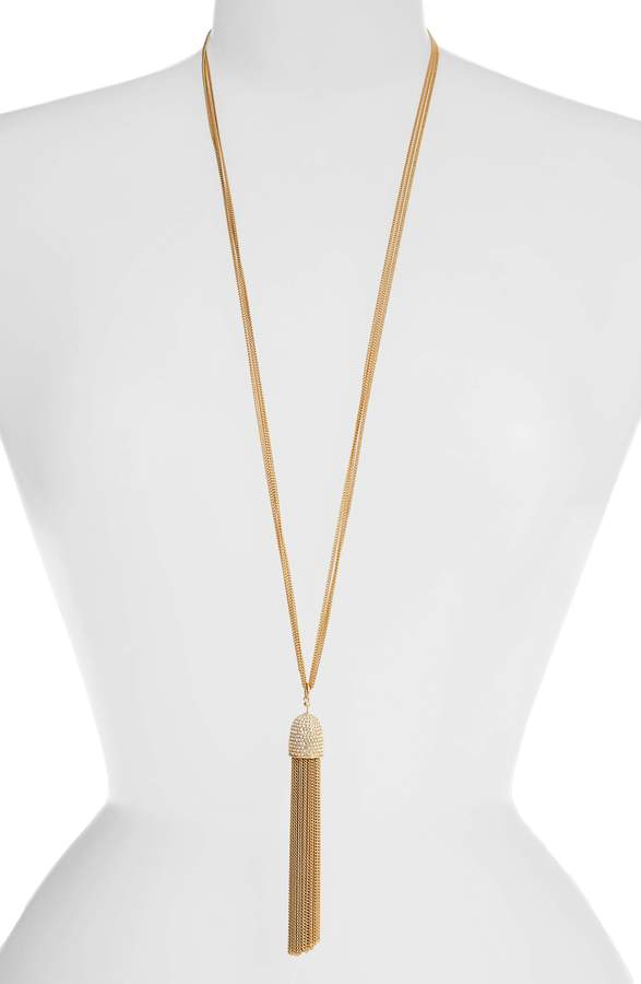 Kate Spade Glimmer Shimmer Tassel Pendant Necklace