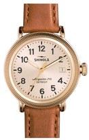Shinola 'The Runwell' Leather Strap Watch, 38Mm