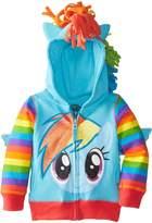 My Little Pony Little Girls' Rainbow Dash Hoodie