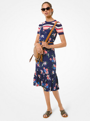 Michael Kors Floral Viscose Slip Dress