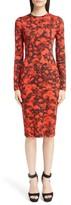 Givenchy Women's Rose Print Jersey Dress